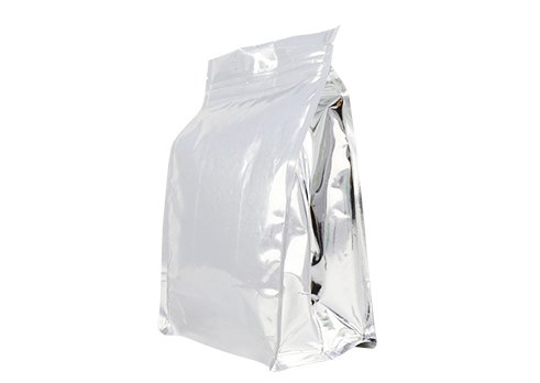 aluminum foil flexible plastic packaging pouches Quad seal flat bottom bag for 1500g coffee with resealable ziplock