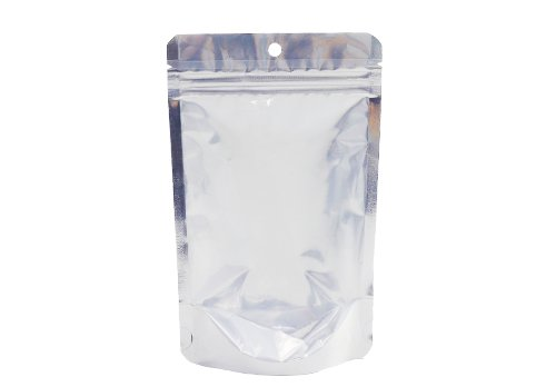 Aluminum foil stand up pouch with resealable zipper with transparent window for sea food packaging