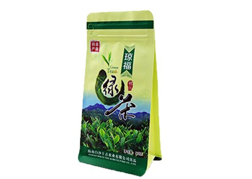 customized prining flexible packaging pouches recyclable Quad seal flat bottom bag with for tea