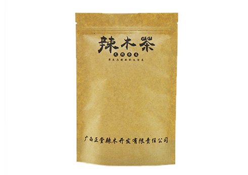 customized printing flexible packaging pouches recyclable Brown Kraft paper stand up zipper pouch with transparent window with resealable ziplock for tea