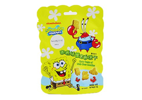 Customized printing snack pouch Shaped Pouch for cookie