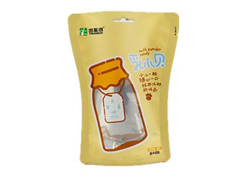 Customized snack pouch Shaped Pouch for cookie with customized printing with transparent window