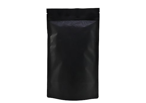 Flexible Matte Black Printed Doypack Stand Up Packaging Pouch with Zipper
