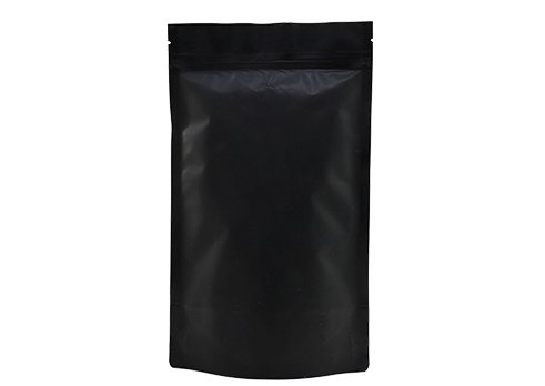 flexible matte black printed doypack stand up tea packaging pouch with Zipper