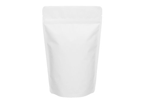 Flexible matte white printed doypack stand up packaging snack pouch with Zipper
