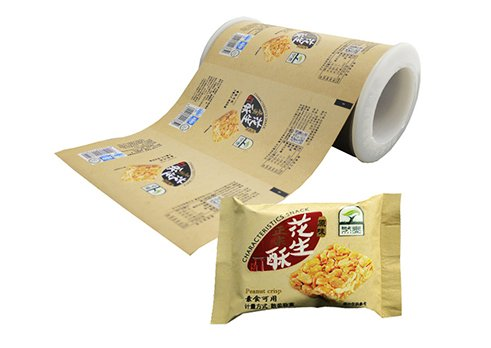 Flexible packaging aluminum foil packaging film for snack pouch with customized printing