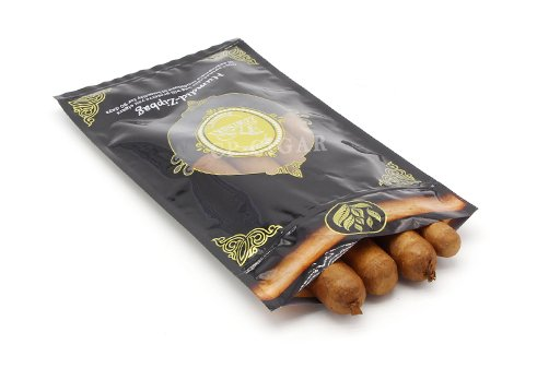 Flexible packaging bag Cigar pouch with customized printing with resealable zipper