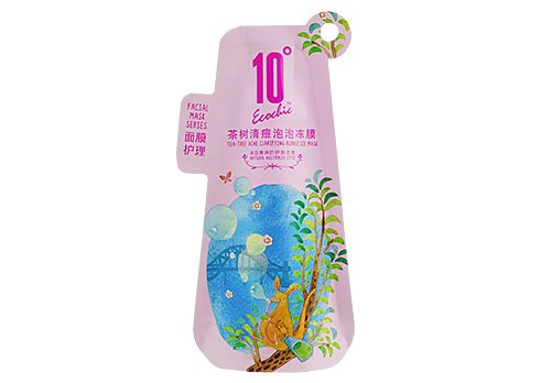 flexible packaging pouches Customizd shaped stand up pouch with handle
