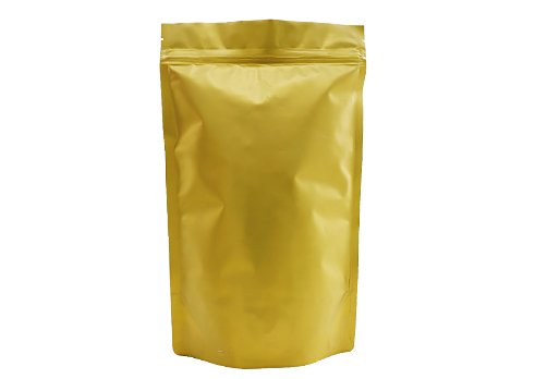 flexible packaging pouches Gold matte stand up pouches bags with ziplock for tea