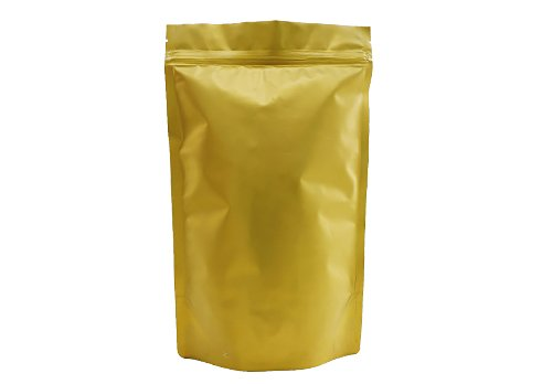 flexible packaging pouches Gold matte stand up pouches bags with ziplock