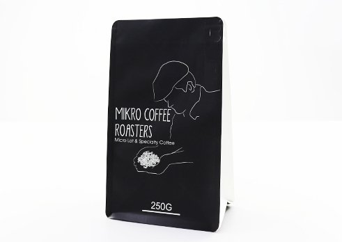 flexible packaging pouches Quad Seal flat bottom bag for 250g coffee packaging with resealable zipper