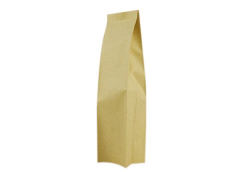 flexible packaging pouches recyclable 1kg Brown kraft paper side Gusset bag for tea