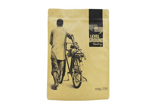 flexible packaging pouches recyclable Brown Kraft paper stand up tea pouch with resealable ziplock wtih customized printing