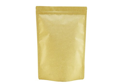 flexible packaging pouches recyclable Brown Kraft paper stand up tea pouch with resealable ziplock