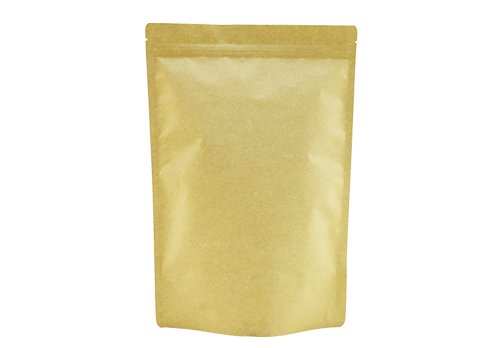 flexible packaging pouches recyclable Brown Kraft paper stand up zipper pouch with coffee valve with resealable ziplock