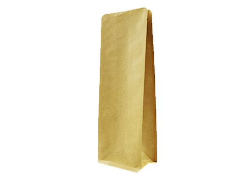 flexible packaging pouches recyclable Brown kraft paper side Gusset bag for tea
