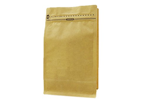 flexible packaging pouches recyclable Quad seal flat bottom bag for 1000g coffee with resealable pocket ziplock