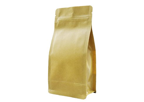 flexible packaging pouches recyclable Quad seal flat bottom bag for 1000g coffee with resealable ziplock