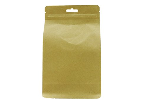 flexible packaging pouches recyclable Quad seal flat bottom bag with resealable ziplock with euro hole for tea