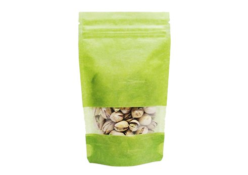 flexible packaging pouches recyclable Rice paper stand up zip pouch with resealable ziplock