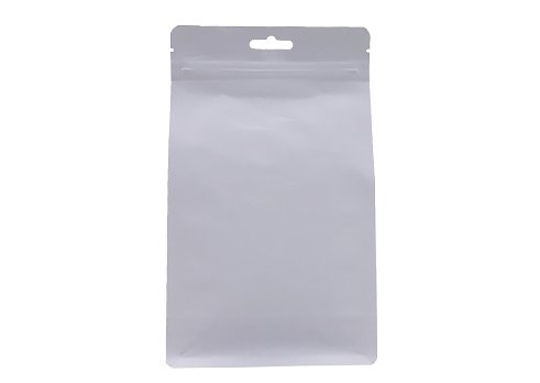 flexible packaging pouches recyclable White kraft paper pouch with euro hole with resealable ziplock for coffee