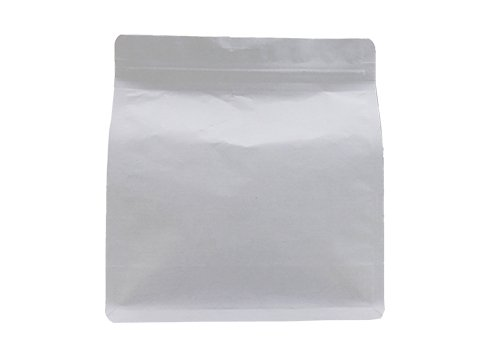 flexible packaging pouches recyclable White kraft paper pouch with resealable ziplock