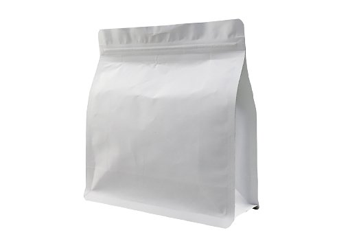 flexible packaging pouches recyclable White kraft paper tea pouch with resealable ziplock