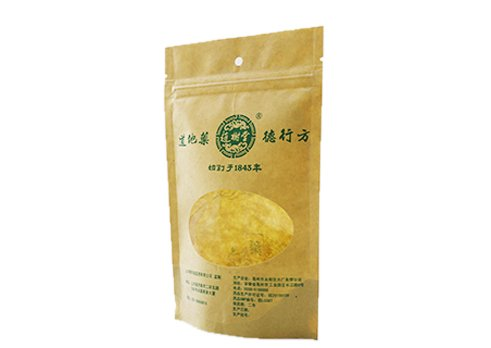 flexible packaging recyclable Brown Kraft paper stand up window pouches wth resealable zipper with customized printing