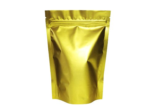 flexible plastic packaging bags with Gold matte printed with ziplock