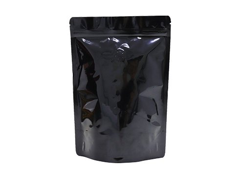 flexible plastic packaging pouches black printing stand up pouches for 12oz coffee with valve with ziplock