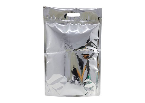 flexible plastic packaging pouches stand up foil pouch with handle with resealable ziplock