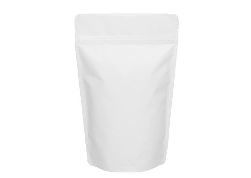 flexible plastic packaging pouches with white printing stand up barrier pouch with resealable ziplock
