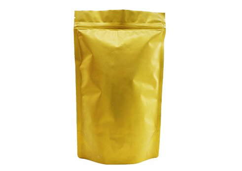 gold stand up plastic pouch