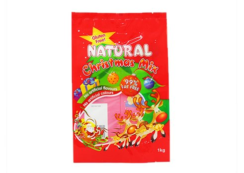 Snack pouch with customized printing for christmas