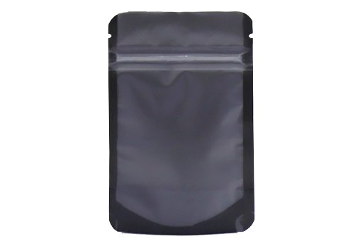 transparent flexible packaging pouches with black matte stand up pouch with resealable ziplock