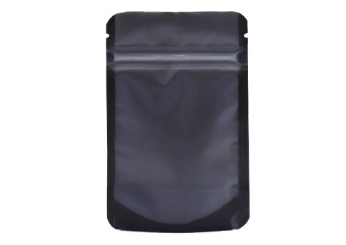 transparent flexible packaging pouches with black matte stand up tea pouch with resealable ziplock