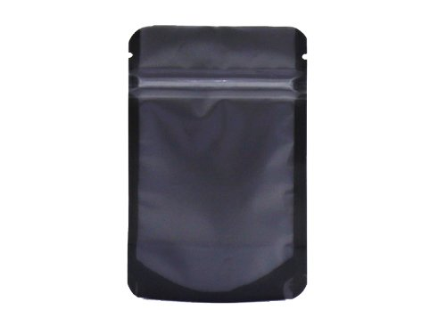 transparent plastic flexible packaging pouches with black matte stand up pouch with resealable ziplock