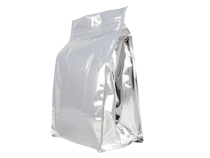 11-aluminum flat bottom pouch bag for food with ziplock