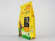12-laminated flat bottom pouch bag for cat food