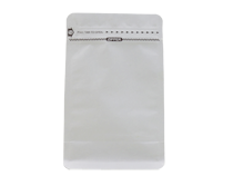 16-recyclable white kraft paper laminated flat bottom pouch bag with printing