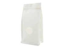 18-recyclable white kraft paper laminated flat bottom pouch bag with window