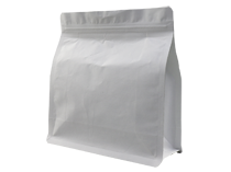 19-recyclable white kraft paper flat bottom pouch bag with ziplock