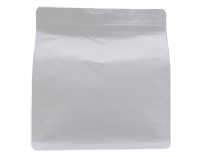20-recyclable white kraft paper flat bottom pouch bag with resealable ziplock