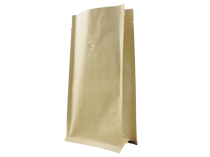 21-recyclable brown kraft paper flat bottom pouch bag