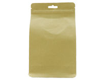 22-recyclable brown kraft paper flat bottom pouch bag with hand hole