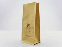 23-recyclable brown kraft paper flat bottom pouch bag with printing