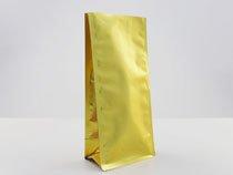 31-matt gold plastic flat bottom pouch bag