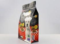 5-laminated flat bottom plastic flat bottom pouch bag for dog food