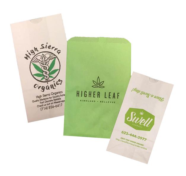 Printed marijuana bag