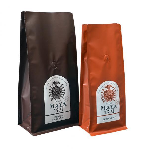 Custom printed coffee bag